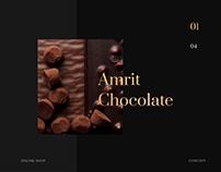 Amrit Chocolate - Online shop concept