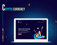 Cryptocurrency Landing page with IOS App