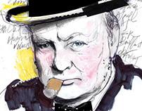 Winston Churchill - Ilustríssima / Folha de S. Paulo