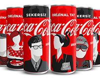 Explore cities with Coca-Cola cans