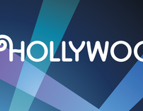 Hollywood.com brand ID, logo, logotype design