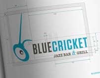 Blue Cricket Restaurant Identity