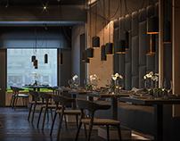 """Дизайн интерьера кафе """"Нивки"""". Зал 1этаж."""