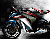 Motorcycle design Sketches Set #1