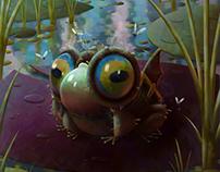Karlog - The enlarging frog