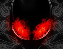 Alien Fire Head + Animation