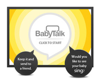 Disney Baby Talk : Interactive banner proposal