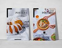 Concrete Interior Branding Posters Mockup Free
