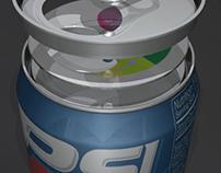 The Soda Seal -- Resealable Soda Can Design, 3d model