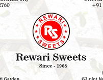 Business card for Rewari Sweets