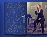 Entertainment weekly - Kelly Clarkson feature lettering