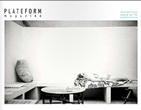 Featured in PLATEFORM MAGAZINE issue #78