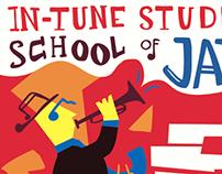 Jazz School Illustrated Poster