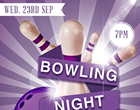 Bowling night poster