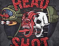 Head shot sticker