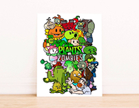 Plants Vs Zombies Print