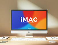 Free Workplace iMac Pro Mockup PSD
