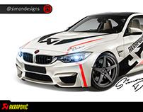 BMW M4 - Akrapovic Design Designed By : Simon Designs