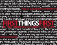 First Things First - A Manifesto for Designers
