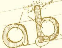 Super f. Typeface