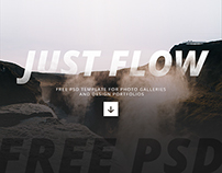 Free PSD template for photo galleries and portfolios