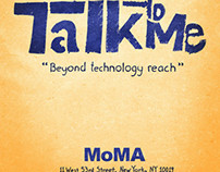 Talk to Me Event Poster