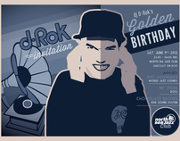 DJ D-Rok's Birthday Invitation