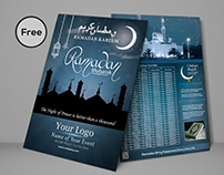 Ramadan Sehri and Iftar Time Schedule Flyer Design