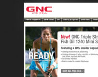 WEB DESIGN for GNC