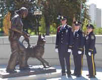 Custom Bronze Police Memorial Statues- Police K9 Bronze