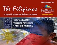 PASACAT Benefit Show Flyer Haiyan w/ Seaworld