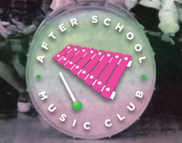 After School Music Club poster series