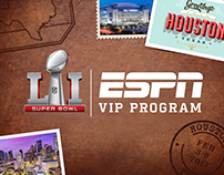 ESPN Super Bowl VIP Program Creative
