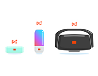 JBL Connect+ feature icons
