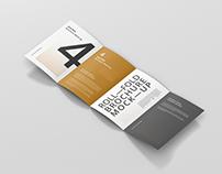 Roll-Fold Brochure Mockup - Din A4 A5 A6