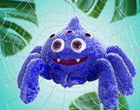 Blue Muppet Spider