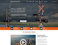 Theme-Forest Responsum Template | Main Page