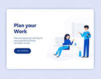 Planning work landing page