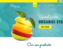 Organic Food Store Wordpress Website