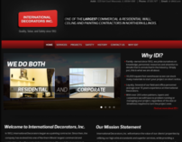International Decorators, Inc.  -- Front-page Re-Design