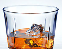 Whiskey glass CGI 3D visualization