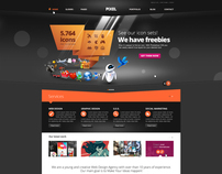 Pixel Studio - Premium Website Template - Dark