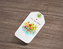 Die Cut Tag Mock-Up