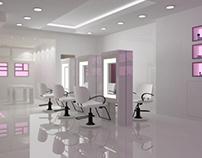 Interior concept for beauty salon