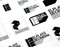 Creación y desarrollo de logo para EL PLATO DE CINEMA