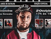Cartaz de hip-hop para evento no Sesc Sorocaba