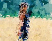 Fields of gold - Demoiselle in blue