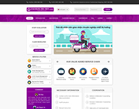Courier & Delivery Service ( Home Page Redesign)