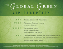 Global Green VIP reception invitation
