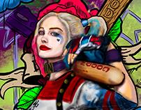 Ilustrações Joker and Harley Queen